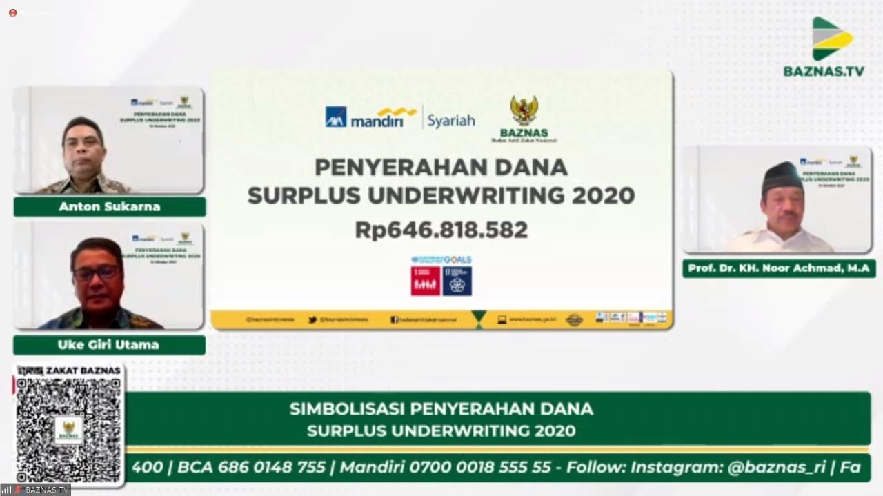 Bantu penanggulangan Covid-19, AXA Mandiri salurkan dana surplus underwriting melalui BAZNAS