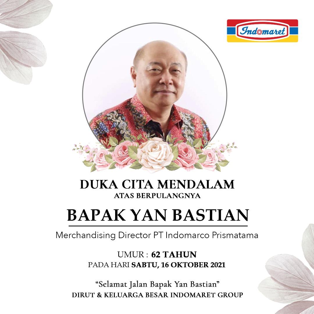 Indomaret berduka, Putera terbaik Yan Bastian meninggal dunia