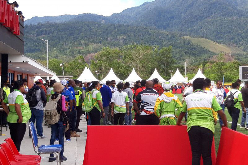 Laga final Rugby 7S Papua melawan Jakarta ricuh