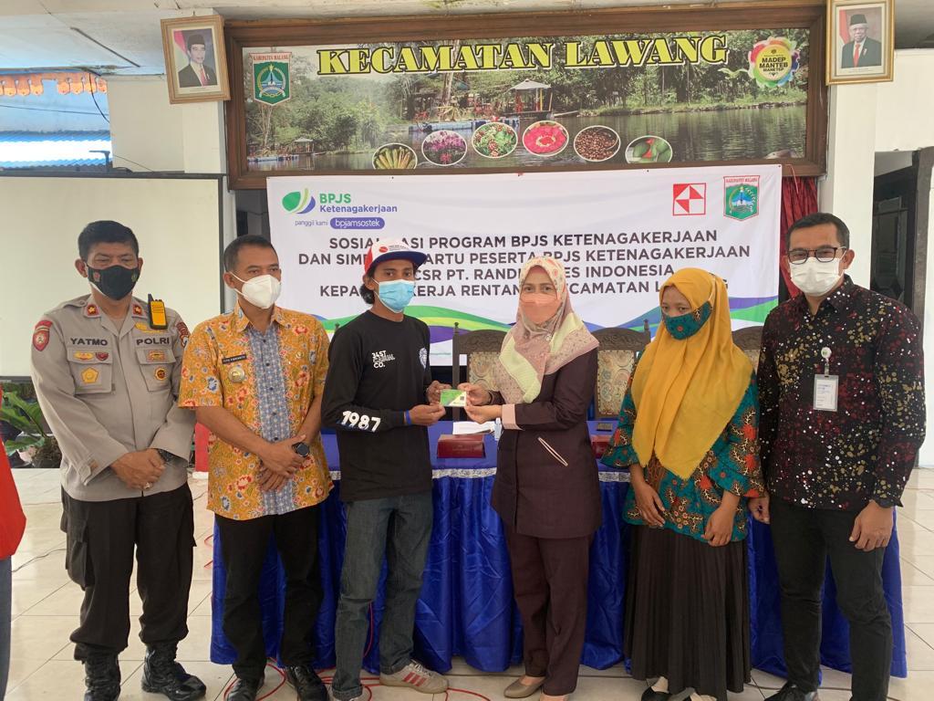 1.000 pekerja rentan di Kecamatan Lawang, Malang dapat jaminan