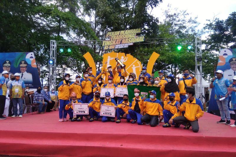 Banten juara umum Pekan Olahraga Tradisional Nasional 2021