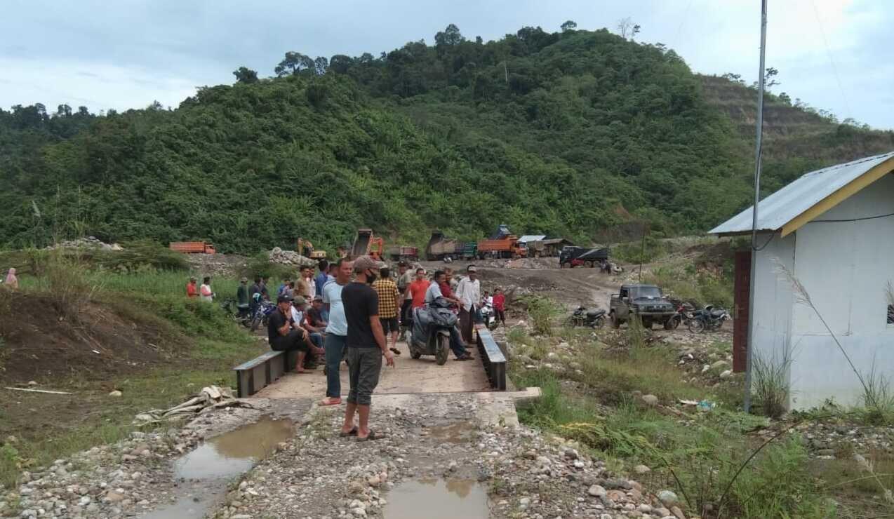 Masyarakat pemilik lahan pembangunan Waduk Keureuto blokir akses pengambilan material