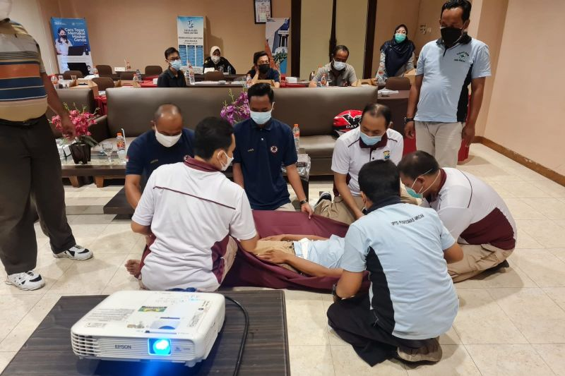Jasa Raharja Kediri adakan pelatihan penanganan korban kecelakaan