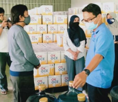 Air mineral OKOCE salurkan Rp15 dari pembelian melalui Baznas