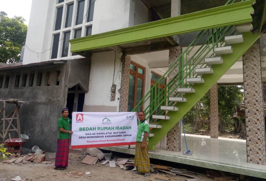 Wujudkan kenyamanan ibadah Hari Raya, NU Care dan Alfamidi renovasi masjid di 12 kota
