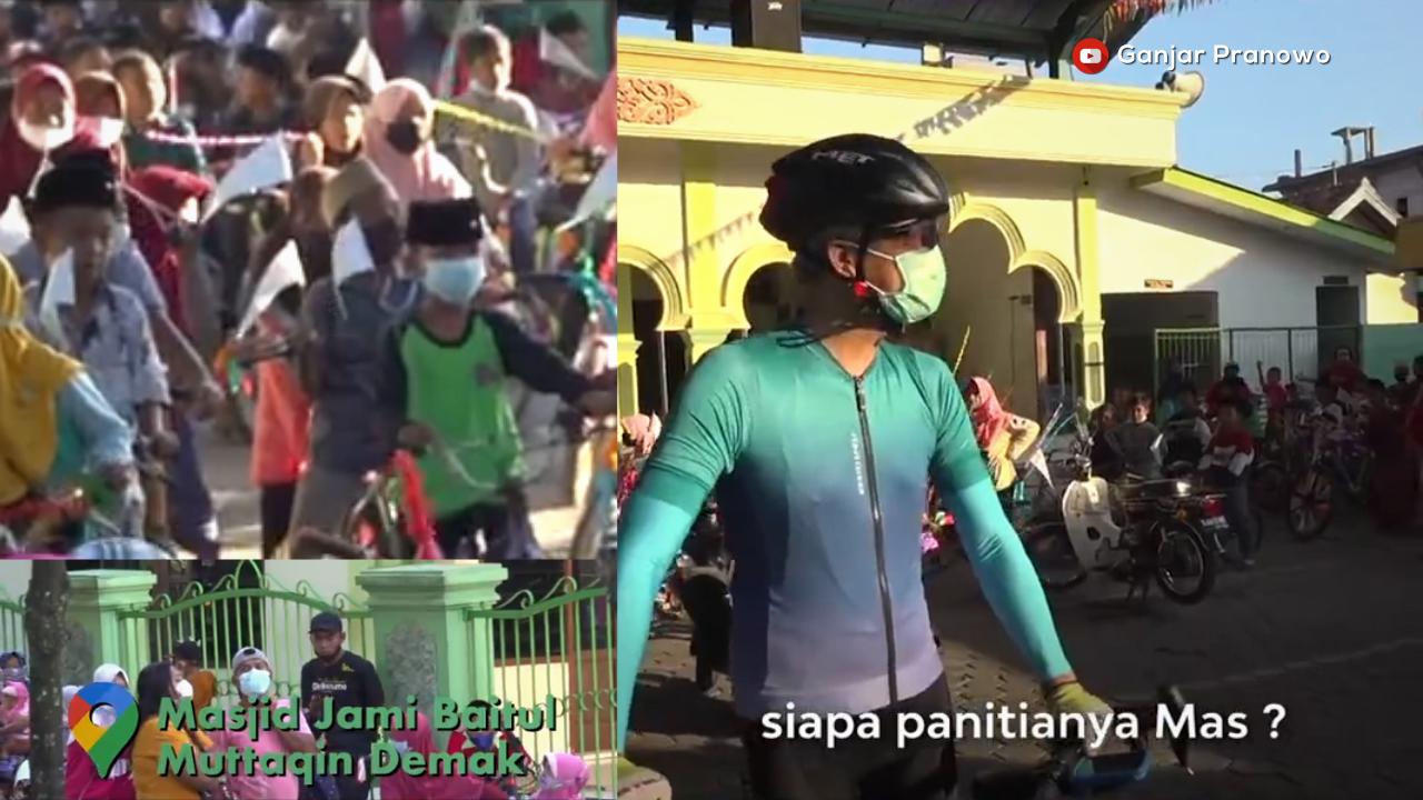 Ganjar bubarkan konvoi sepeda, panitia dimarahi