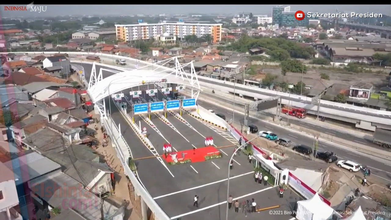 Peresmian enam ruas jalan tol dalam kota Jakarta